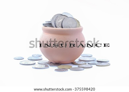 Spend money concepts for insurance - stock photo
