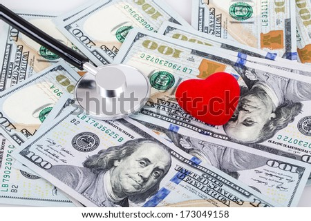 spends for health - stock photo
