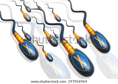 sperms - stock photo