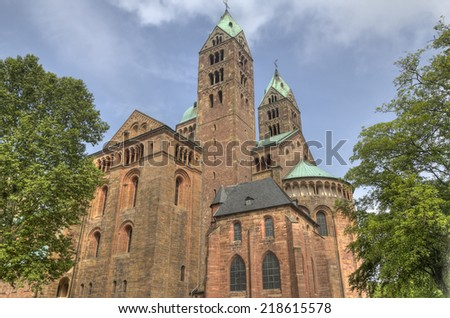Speyer Cathedral in Germany - stock photo