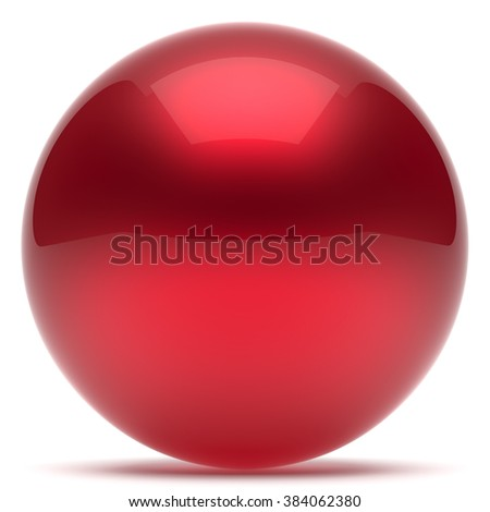 Sphere ball geometric shape button round basic circle solid figure simple minimalistic element single red drop shiny glossy sparkling object blank balloon atom icon. 3d render isolated - stock photo