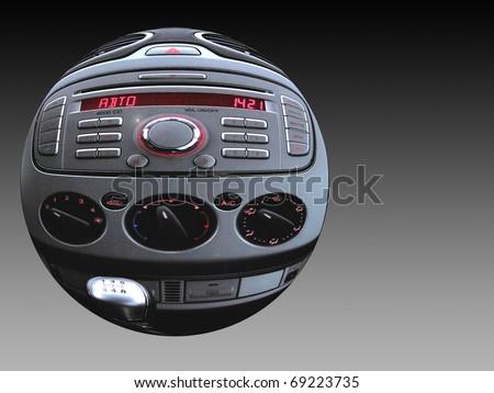 sphere car dashboard - stock photo