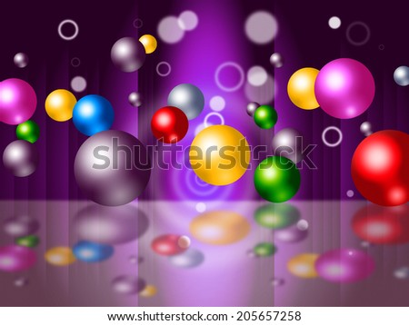 Sphere Colourful Meaning Orb Bouncing And Orbs - stock photo