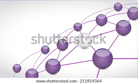 sphere connection link tech network illustration design over a white background - stock photo