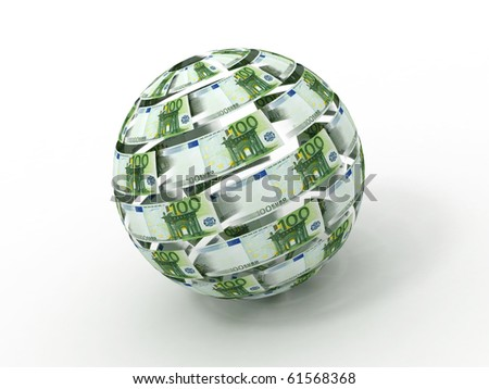 Sphere from euro. 3d - stock photo