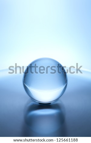 sphere on water - stock photo