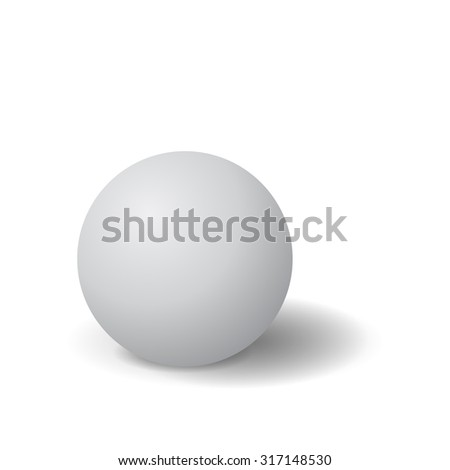 Sphere. Raster version. Isolated on white.
