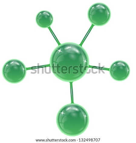 spheres of green  color on a white background.raster copy of vector file