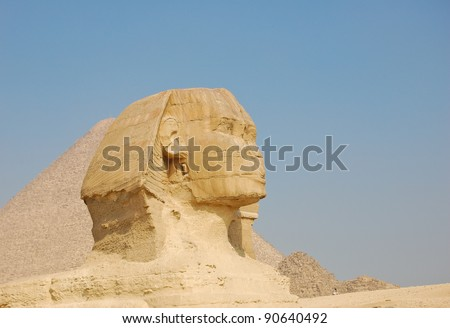 Sphinx and Pyramid of Giza, Egypt