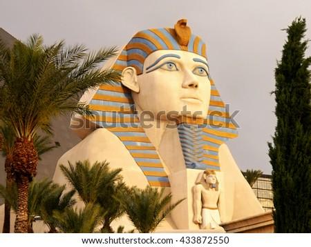 Sphinx at Luxor Hotel Las Vegas - LAS VEGAS, NEVADA, USA.  May 8, 2016 - stock photo