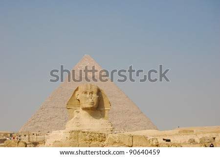 Sphinx at Pyramid of Giza, Egypt