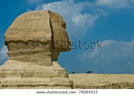 Sphinx head, Egypt