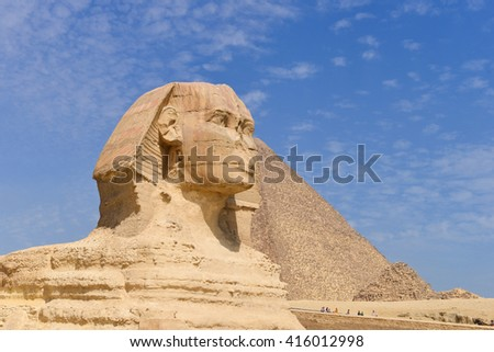Sphinx in Giza Pyramids - Cairo, Egypt - stock photo