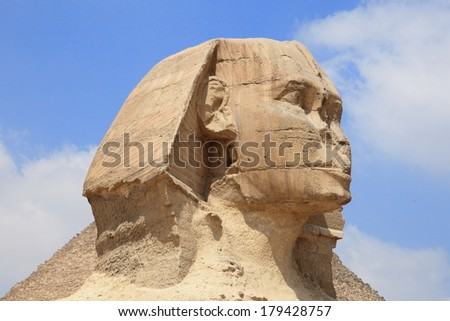 Sphinx of the Great Pyramid in Giza, unesco world heritage, Egypt