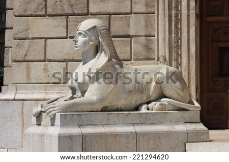 Sphinx statue - stock photo