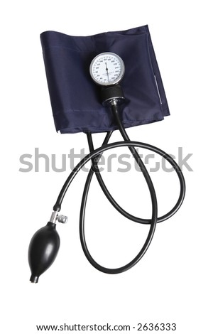 Sphygmomanometer blood pressure gauge - stock photo