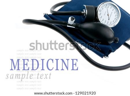 Sphygmomanometer isolated on white background - stock photo