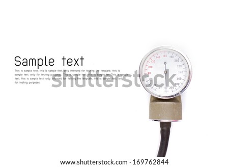 Sphygmomanometer isolated on white background - stock photo