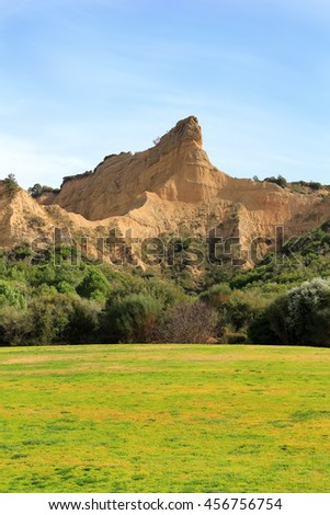 Sphynx at Anzac Cove, Turkey a scene of one of the bloodiest campaigns of World War 1 in the Gallipoli Peninsula - stock photo