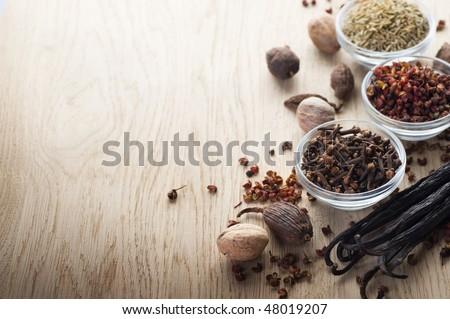Spice Border - stock photo