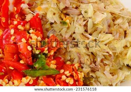 Spice combine of garlic and sweet pepper - stock photo