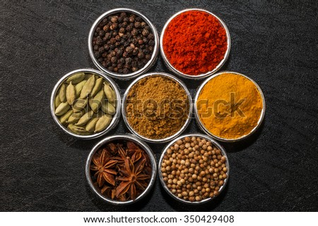 Spice for the Indian curry
