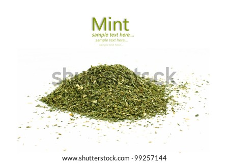 Spice Mint. Isolated on white background. - stock photo