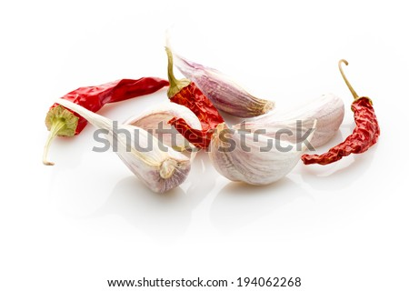Spice mix a wooden spoon on a white background. - stock photo