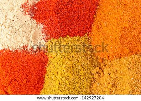 Spice mix background - stock photo