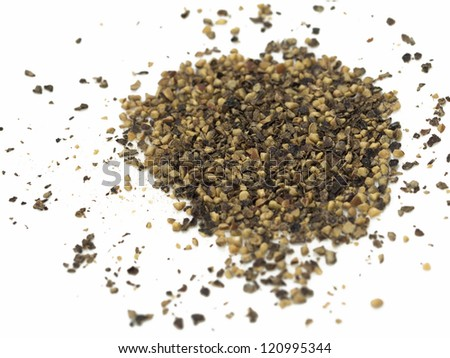 Spice of black pepper isolated on white background - stock photo
