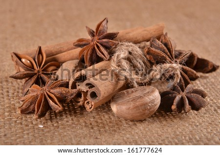 spices and coffee - stock photo