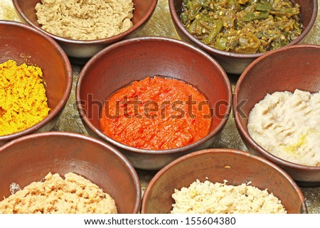 spices and herbs, food - stock photo
