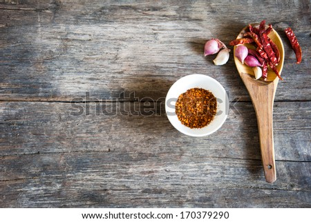 Spices and herbs in bowls and ladle . Food and cuisine ingredients. Colorful natural additives. - stock photo
