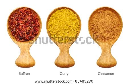 Spices and herbs isolated on white 4 - stock photo