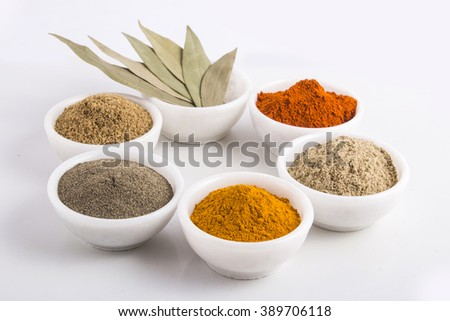 Spices and herbs powder - stock photo