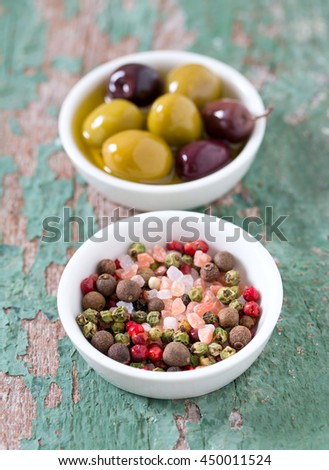 spices and olives