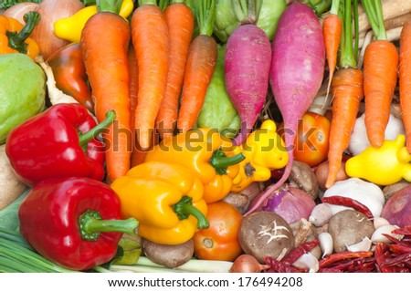 Spices and Vegetables - stock photo