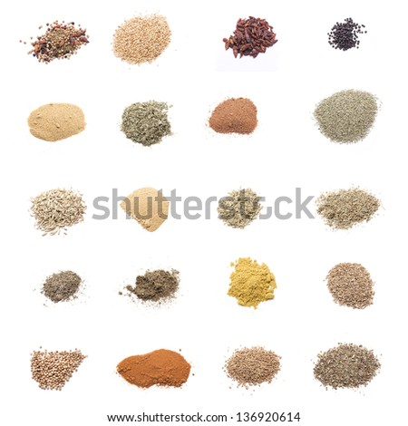 spices are essential for some meals, each culture uses its traditional spices - stock photo