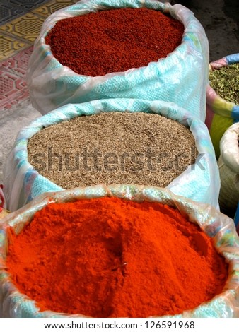 Spices at the Otavalo Market in Ecuador