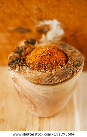 spices BBQ Rub mix of Herbs, shallow dof - stock photo
