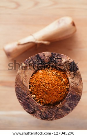 spices Chicken BBQ Rub mix of Herbs, shallow dof - stock photo