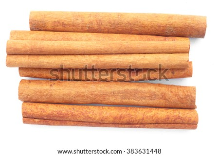 Spices. Cinnamon for cooking on white background