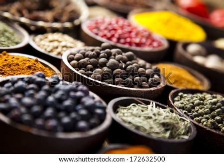 Spices, Cooking ingredien - stock photo