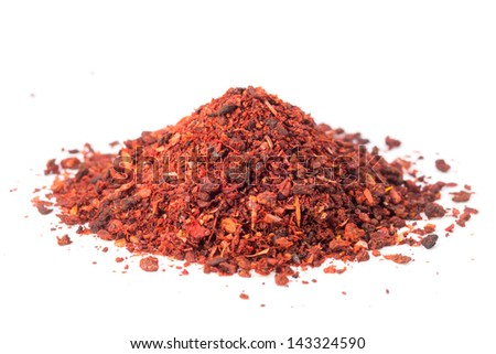 Spices - dried tomatoes on a white background - stock photo