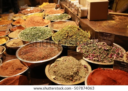 spices for food in market
