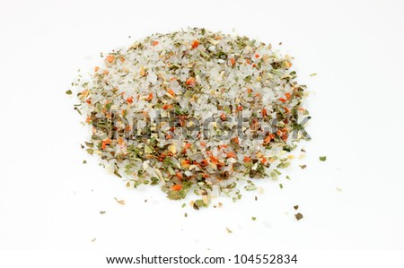 spices for food on a white background - stock photo