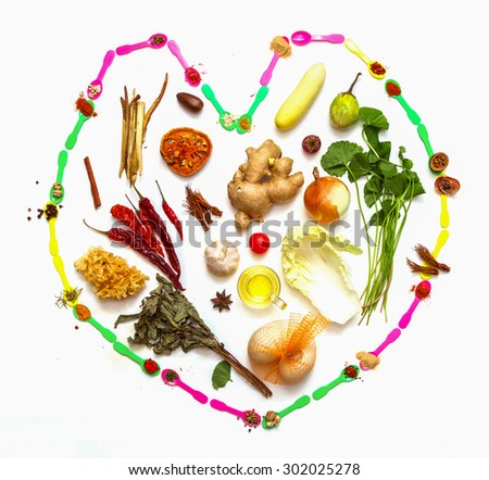 spices for health on background. - stock photo