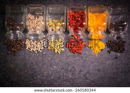 spices,ingredients - stock photo