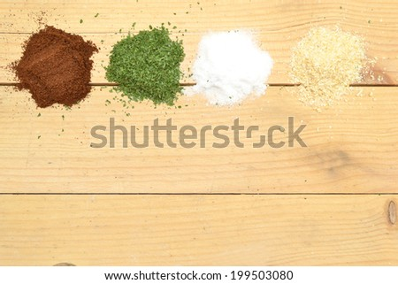spices on a wooden - stock photo