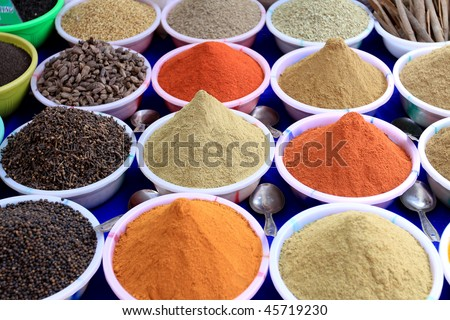 Spices on sale in Goa